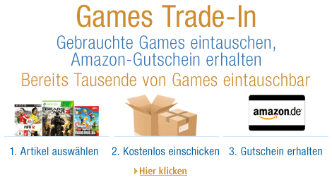 Amazon Eintausch-Service Trade-In f�r Games