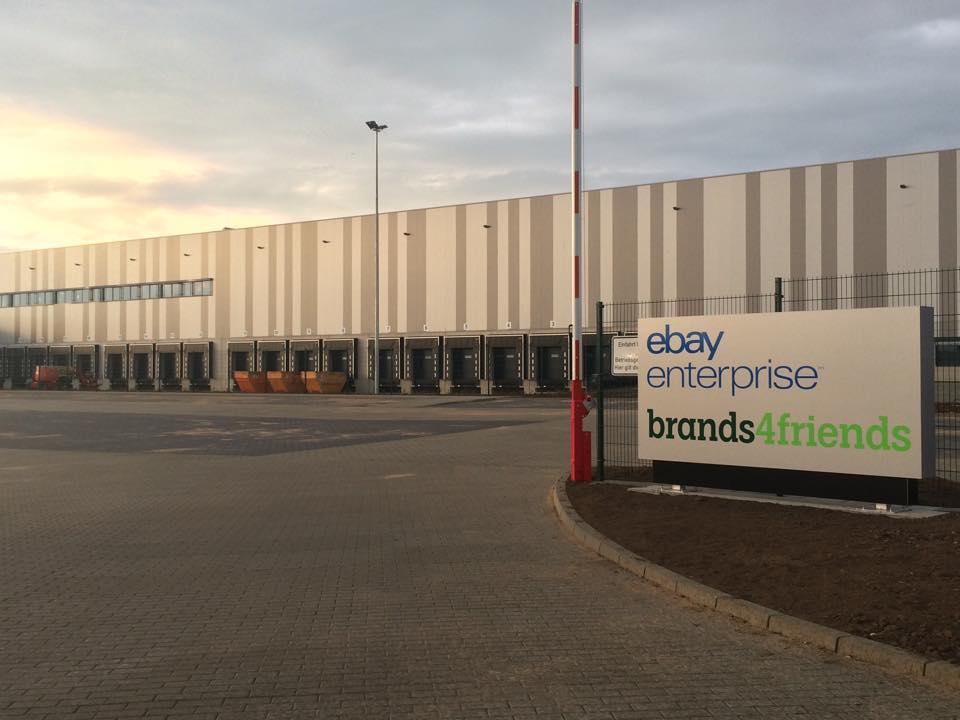 Baufortschritt in Halle: eBay enterprise & brands4friends