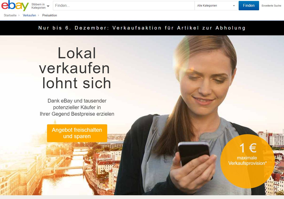 eBay UK launcht eBay Local . Nicht nur in _de positioniert sich eBay lokal