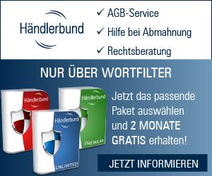 Anzeige Händlerbund in Koorperation mit Wortfilter für Online Händler