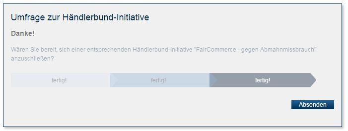 Händlerbund Initiative: FairCommerce Nein zu Abmahnmissbrauch