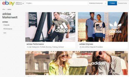 eBay Markenwelt: Adidas geht an den Start