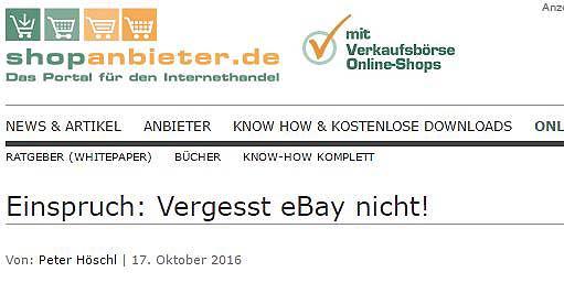 [Gastartikel] Einspruch: Vergesst eBay nicht!