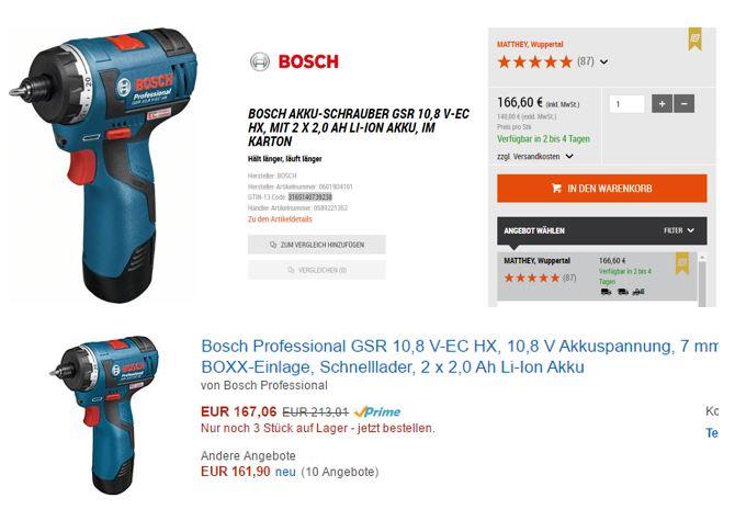 Bosch Professional GSR 10,8 V-EC HX