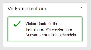 Amazon Händlerumfrage