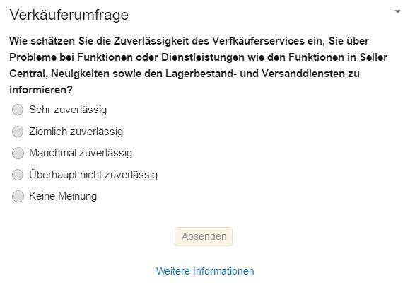 Amazon Umfrage