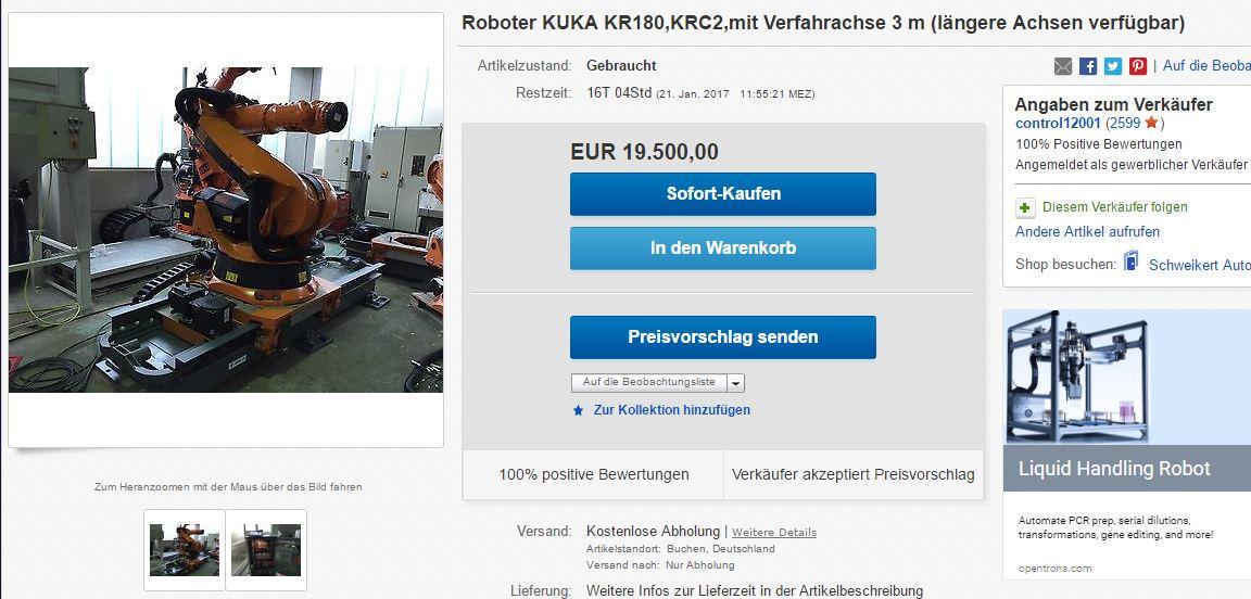 Roboter KUKA KR180