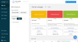 wortfilter.de Chatbot mit Chatfuel - Karten anlegen