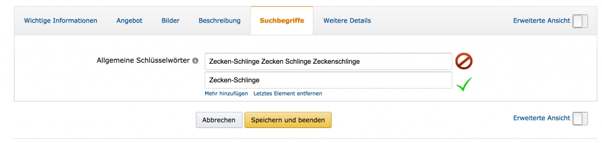 Amazon-Backend-keywords