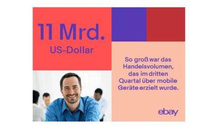 Zahl des Tages: ebay – 11 Mrd. US$ mobiles Handelsvolumen (GMV) in Q3/17