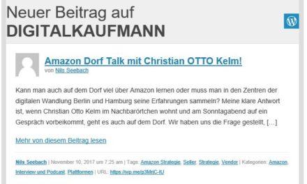Amazon Dorf Talk: Christian Kelm mit Nils Seebach