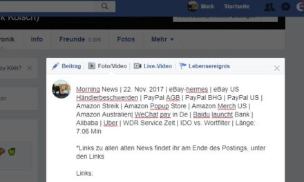 Morning News | 22. Nov. 2017 | eBay-Hermes | eBay US Händlerbeschwerden
