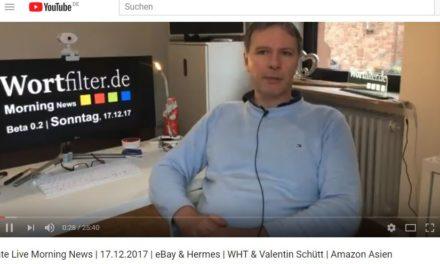 Late Live Morning News | 17.12.2017 | eBay & Hermes | WHT