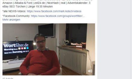 Live Morning News   9.12.2017   Händlerbund   PayPal   Rebuy   Amazon