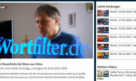 WDR Markt: Die Steuertricks bei Ware aus China – Video 4:21 Minuten