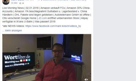 Live Morning News | 02.01.2018 | Amazon verkauft FC …