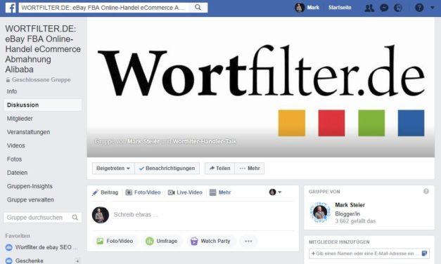 Da war einiges los letzten Monat: Wortfilter Facebook Gruppen Insights