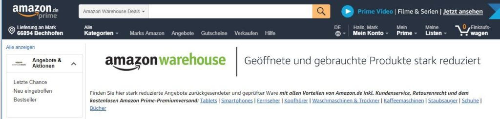 Amazon vernichtet Ware