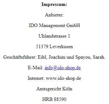 IDO Abmahnungen Shop