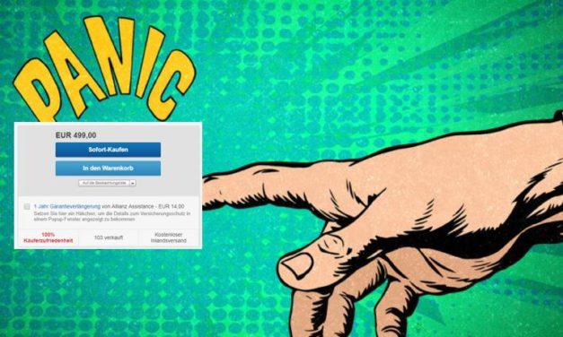 [UPDATE] eBay: Panikmache um die Garantieverlängerung mit der Allianz Assistance